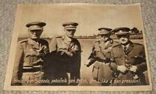 GENERAL SVOBODA & BOCEK & LISKA CZECH MILITARY LEADERS - VINTAGE 1940's POSTCARD