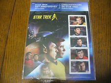 2016 STAR TREK 50TH ANNIVERSARY PANE OF 5 STAMPS   SEE PHOTOS