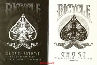Bicycle Ellusionist Combo Ghost Black + White Magic US Playing Cards Poker NEW