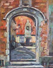 Pierre HENSELER (1903-1985) HsP Porche à Gand, 1936 / Ecole Belge / Fauvisme