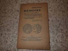 1922.Mémoire sur relatif et absolu en géométrie.Paraf-Javal