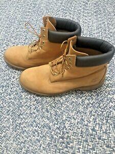 "Timberland 6"" Premium Waterproof Men's Boot - Wheat Nubuck, US sz 14"