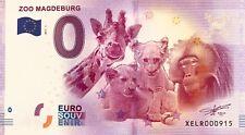 BILLET 0 ZERO EURO SCHEIN SOUVENIR ZOO DE MAGDEBURG 2017-1