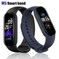 Bluetooth Smart Watch M5 Heart Rate Blood Pressure Fitness FIT#BIT Tracker M4 +