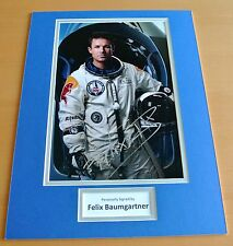 FELIX BAUMGARTNER HAND SIGNED AUTOGRAPH 16x12 PHOTO DISPLAY GIFT SPACE JUMP COA