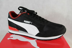 Puma St Runner Lace Up Sneakers Low Shoes Sports Shoes Black New