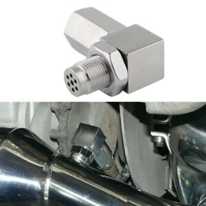90 Degree O2 Sensor Spacer Engine Light CEL Check Bung Mini Catalytic Converter