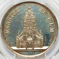 1844 German States, Baden, Ulm Minster, Nau-241 Silver, PCGS SP62