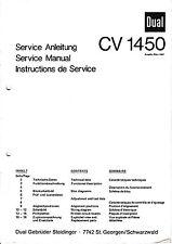 Service Manual-Instructions pour DUAL CV 1450