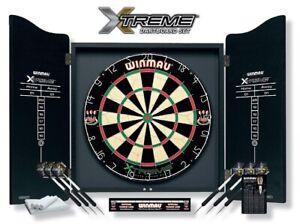 Winmau Xtreme Dartboard Cabinet Set  Dartpfeile Dartscheibe Steeldarts Dartspiel