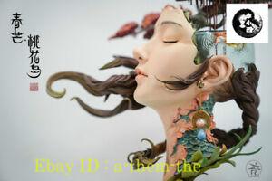 (In-Stock @ a-team-the)YuanXingliang Peach Blossom Island Chian Women Art Statue