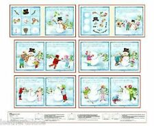 Henry Glass ~ How To Make A Snowman -Frosty ~ 100% Cotton Soft Book Fabric Panel