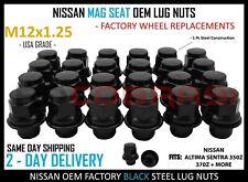 Nissan Passenger 350Z 370Z Altima Sentra 2003+ Mag Seat Lug Nuts Black Finish