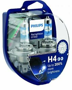 PHILIPS Racing Vision GT200 P43t-38 Halogen Bulb PH-12342RGTS2 H4 12V 60/55W