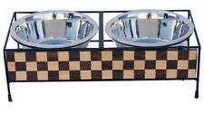 Luxe craft collection by Indipets 2 quart Diner Wood and iron chess Board design