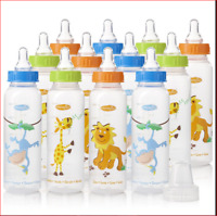 Evenflo Feeding Bottles For Baby Zoo Natural Polypropylene 8 Ounce (Pack of 12)