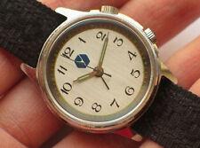 Rare soviet POLJOT windup watch w/ Alarm Cal 2612 Silver Dial *SERVICED*