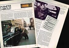 Old TAXI CAB's History Article / Photos: TAXIMETER CABRIOLET