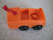 Fisher Price Little People ORANGE TANKER FUEL TRUCK for AIRPLANE AIRPORT VEHICLE