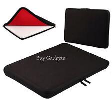 "13 "" Negra De Neopreno Laptop Notebook Funda Para Acer Hp Sony Apple Dell"