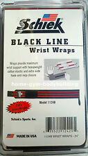 """NEW Schiek Black Line Two 24"""" Extra Heavy Duty Weight Lifting Wrist Wraps 1124B"""