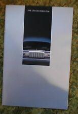 1991 Lincoln Town Car Sales Brochure
