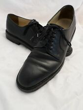 SALVATORE FERRAGAMO black pebble leather lug tread sole dress shoes 7D