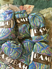 MeiMei Discontinued Bamboo Yarn Varigated Blue Green Purple, Etc.  Lot of 2