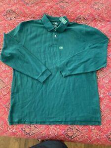 NWT LL Bean Button Shirt Men's XL Tall XLT GREEN COTTON LONG SLEEVE TRADITIONAL