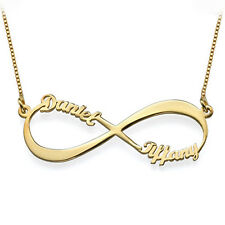 Infinity Name Necklace in 18k Gold Plated on Sterling Silver (USA Seller)