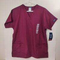 New with Tags Cherokee Scrub Top. Unisex Size S. Maroon/Wine V-Neck