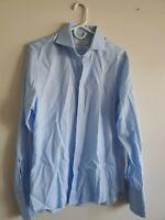Charles Tyrwhitt Slim Fit French Cuff Men's Dress Shirt, 15.5/34, Light Blue