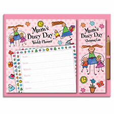 Magnetic Weekly Planner & Shopping List with Pencil Set Mum's Busy Day