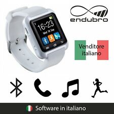 endubro SMARTWATCH U-WATCH BLUETOOTH TOUCHSCREEN ANDROID E IOS - BIANCO