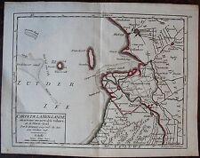 CARTE DE LA HOLLANDE  ou se trouve une partie de la Veluwe et de l'Over-Yssel. R