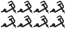 8 x Black 25mm Hook G Clamp Lighting Stand fits Equinox DJ Booth Micron Gorilla