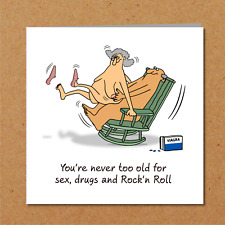 Funny Birthday card 40th 50th 60th Anniversary Wife Husband Mum Dad Rude Naughty