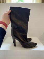 Manolo Blahnik, 5, 37.5, boots, brown