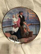 "The Ellis Island Plate ""Gateway to America"" Franklin Mint Artist: Max Ginsburg"