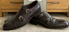Tom Ford Charles Double Monk Strap Brown Leather Shoes 10T Size Uk 9 🇮🇹 £1070