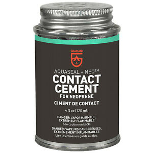 GEAR AID Aquaseal NEO Contact Cement for Neoprene and Wetsuit Repair, 4 fl oz