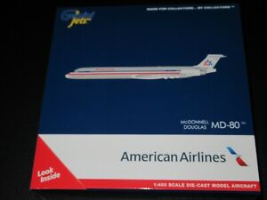 Gemini Jets 1:400 American Airlines MD 80 N9621A Excellent Condition in Box
