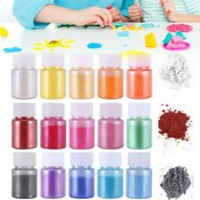 15-Color Mica Powder Epoxy Resin Dye Pearl Pigment Natural Mica Mineral Powder'