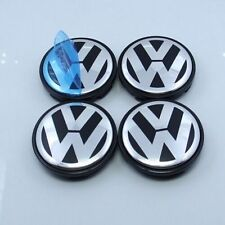 NEW SET OF 4 VW VOLKSWAGEN CHROME CENTER WHEEL COVER CAPS LOGO 3B7601171XRW