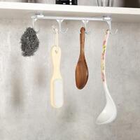 Cup Holder Hang Kitchen Cabinet Under Shelf Storage Rack Organiser Hooks ABS