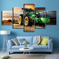 Tractor Farm Field 5 Pieces Canvas Wall Art Poster Print Home Decor