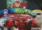 Avengers Quilt Doona Duvet Cover Set Iron Man Bedding Hulk Thor Captain America