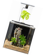 EcoQubeC Aquarium - Desktop Betta Fish Tank For Living Office And Home Décor
