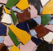 10 Pounds of Broken Talavera Mexican Ceramic Tile in Mixed Solid Colors #1