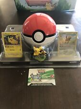 🔥Pikachu & Eevee Bundle Ft Cards,Pokéball, TCG Code card + Figurine!! Wow!!!